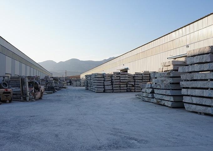 石材半成品料区